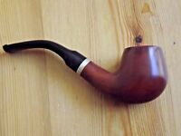 Silver and a Metal Filter Vintage Handcrafted Pipe Inlayed w Metal