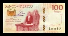 MEXICO 100 PESOS 2016(17). PICK 130. COMMEMORATIVE. SC. UNC (Uncirculated).