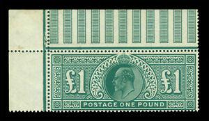 GB  1902 King Edward VII  £1 deep green  Scott # 142 (SG 320)  mint MNH**