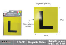 2 PCS Magnetic L Plate Driver Learning Car Learner Licence No Speed Limit Yellow