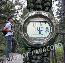 NEW! Timex Expedition VIBRATION ALARM Watch w/ Handmade Paracord 550 Watch Band