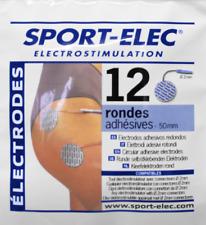 Sport-Elec 12 electrodos diámetro 50 mm conexión 2 mm electroestimuladores tens