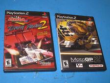 NAMCO IHRA DRAG RACING 2 + BETHESDA MOTO GP 2 PlayStation 2 GAME Manual  5R3