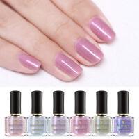 BORN PRETTY 6ml   Nail Polish Pink Purple Glitter Nail Art Varnish