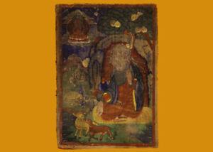 "Nice Rare Old Antique Tibet Buddhism Tsaklis Miniature Thangka""God of Longevity"""