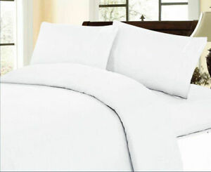 White Solid 1000 TC Best Egyptian Cotton Select Bedding Items & UK Sizes
