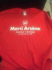 Arsene Wenger Merci Last Home Game Tshirt Arsenal Vs Burnley 18