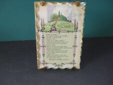"Vintage framed  ""WHAT IS A HOME"" poem 6.25"" X 4"""