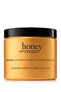 New Philosophy Honey and Cream Body Souffle Cream 16 oz large jar - 2 available