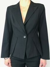 VERONIKA MAINE black lined single button blazer jacket size 10