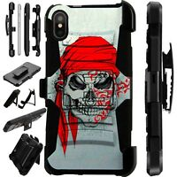 Lux-Guard For iPhone 6/7/8 PLUS/X/XR/XS Max Phone Case Cover SKULL PIRATE