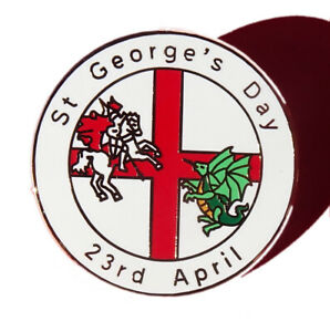 St George's day  England enamel pin badge Saint George's day