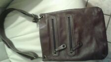 Avorio Italian leather brown large  tote with adjustable shoulder strap
