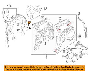 KIA OEM 10-16 Forte Exterior-Deflector Retainer 1491305000