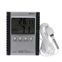 LCD Digital Thermometer Hygrometer Temperature Humidity Meter With Probe Q5S2