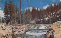 Donner Summit Lake Tahoe California 1950s Truckee River Postcard Roberts 5822