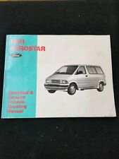 1991 Ford Aerostar Electrical & Vacuum Troubleshooting Manual