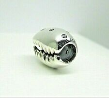 Authentic PANDORA Silver Coffee Bean Cowrie Puka Shell Charm 798131CZ Retire