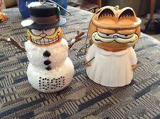 2 Garfield Christmas Ornaments