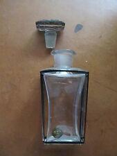 Antique Bohemia perfume glass bottle