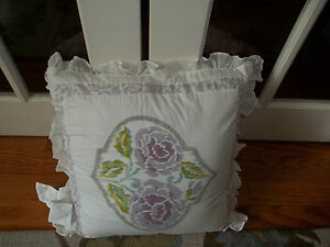 NWT Dena Home French Lavender Square Decorative Bed Pillow 18x18