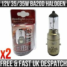 LAMBRETTA SCOOTER 12V 35/35W BA20D H1 HALOGEN UPGRADE BULB *PACK OF 2*