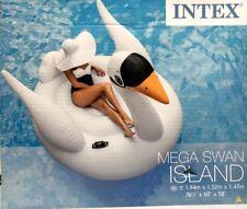 "INTEX Bambini Ragazzi Ragazze GONFIABILE MEGA Swan Island Nuoto Giocattolo 76.5"" x 60"" x 58"""