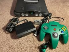 Nintendo 64 (N64) game console with controller, memory card, and all wires