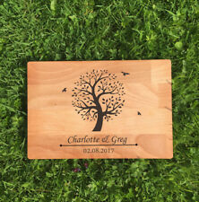 Personalised Wedding Tree Any Name/Date Laser Engraved Chopping Board Gift