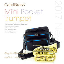 "Worlds smallest  pocket Bb trumpet. MINI  Carolbrass Professional ""mini"" Trumpet"