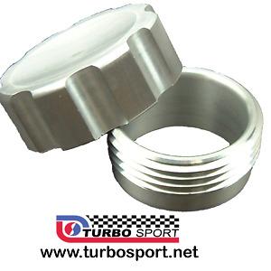 Weld on aluminium alloy filler neck & cap petrol oil header catch tank 38mm