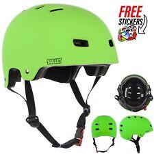 Bullet Safety Gear Skate/BMX Deluxe Protection Helmet, Matte Green