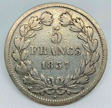 #13520/80 - France, Louis-Philippe, 5 Francs, 1837 D, Lyon