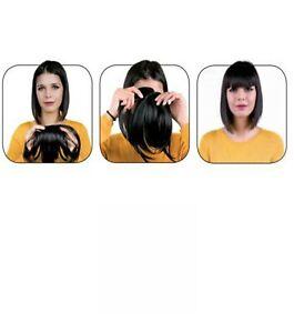 Frange extension cheveux naturels noir 1