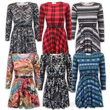 Vestidos de niña de 2 a 16 años de manga larga color principal multicolor