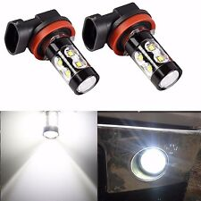 2pcs 50W H11 High Power CREE 6000K Xenon White LED Fog Lights Bulbs