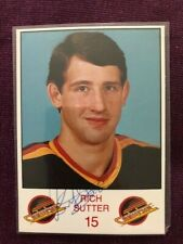 Rich Sutter Canucks Autographed Signed Photo Card