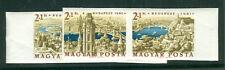HUNGARY #B220-3, 1961 Stamp Day set, IMPERF, og, NH, VF
