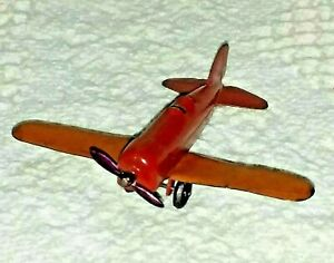 """Vintage 1930s Tootsietoy  Low Wing Airplane 3 1/2"""""""