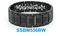 Hematite magnetic balls Gold Men/'s stainless steel link bracelet SSBM51TS2