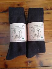 6 PAIRS EXTRA THICK FINE LUXURIOUS BROWN ALPACA WOOL WORK SOCK 6-11