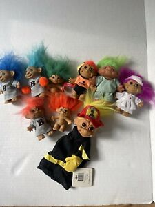 Vintage DAM, Russ, Acme And Ace Troll Dolls ~ Lot of 14