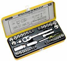 "Stanley 40pce Combination A/F & Metric 1/4"" & 3/8"" Drive Socket Set.   #89.506"