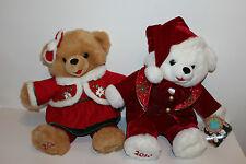 "19"" Snowflake Teddy Bears boy Girl Santa Claus lot Dan Dee Stuffed Animals Cute"
