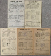 More details for 5 x cricket scorecards from scarborough,yorkshire from 1945 onwards