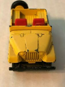 Vintage Matchbox Series # 72 Yellow Jeep by Lesney - Good Condition