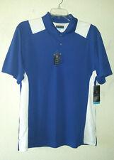New w/Tags Pga Tour Airflux Size L Polo Golf Shirt Mazarine Blue White Polyester