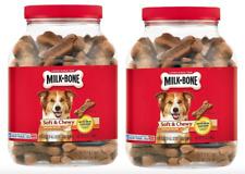Milk-Bone Soft And Chewy Treats Chicken Recipe Dog Snacks (2) 37 Oz Jars