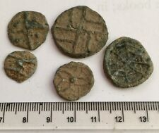 x5 Old Lead Farm Tokens - 1600's. From An Old Lincolnshire Collection (A224)