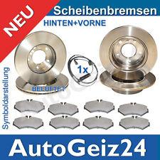 BREMSSCHEIBEN + BREMSBELÄGE VORNE + HINTEN VW GOLF IV + BORA + AUDI A3 + TOLEDO